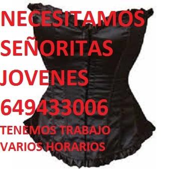 NECESITAMOS SEÑORITAS  649433006