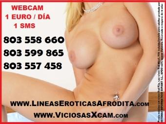 VIDEOLLAMADA PORNO 1 SMS, WEBCAM XXX 1 EURO/ DIA, TELEFONO EROTICO 803558660