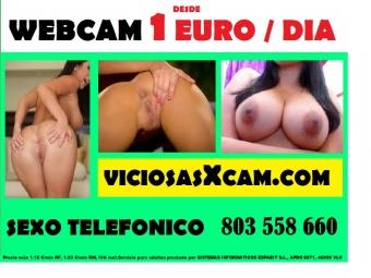 Linea erotica barata 803 558 660 webcam porno 1 euro / dia, videollamada 1 sms, videos porno,