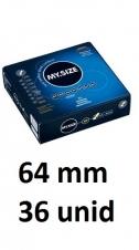 Preservativos MY SIZE 64 mm Caja 36 unidades